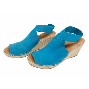 Kenneth Cole Turquoise Colleen Suede Wedge Sandals